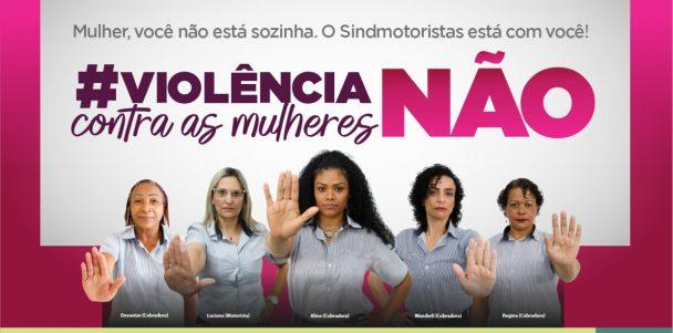 """Sindmotoristas inicia """"Campanha de Combate à Violência Contra a Mulher"""" nas garagens"""