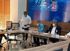 Secretário Geral do Sindmotoristas participa de reunião com prefeito de São Paulo