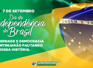 7 de setembro – DIA DA INDEPENDÊNCIA DO BRASIL!