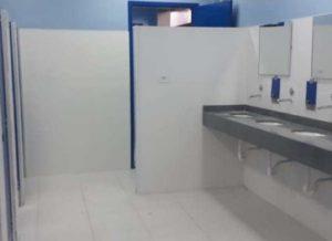 Reforma dos banheiros do Terminal Cidade Tiradentes