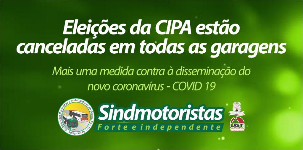 Por determinação do Sindmotoristas, eleições da CIPA estão canceladas em todas as garagens de ônibus