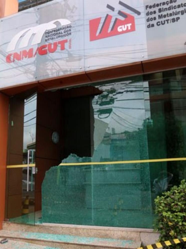 Polícia investiga danos em sede de entidades de metalúrgicos no ABC