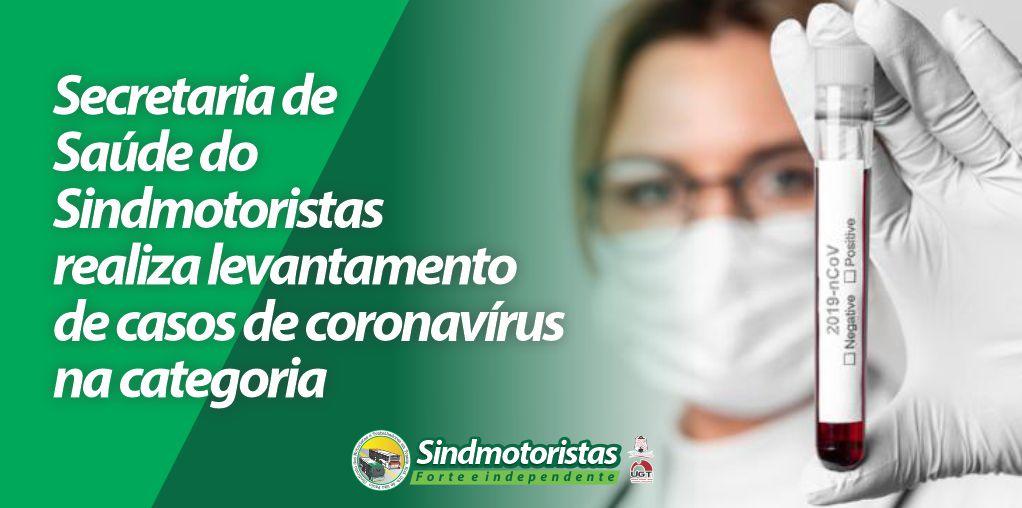 Secretaria de Saúde do Sindmotoristas realiza levantamento de casos de coronavírus na categoria