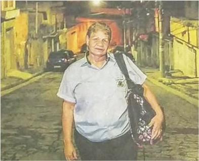 Cobradora Rosa Maria é matéria do jornal Folha de SP